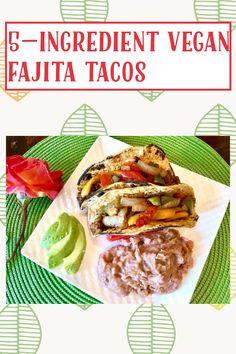 Fajita Vegetables, Veggies, Gluten Free Recipes, My Recipes, Fajita Seasoning, Vegan Tacos, Recipe Ratings, Refried Beans, Fajitas
