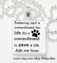 Fostering isn't a lifetime commitment glass tile by RileysStar, $6.99