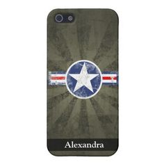 Army Air Corps Vintage Star Patriotic iPhone SE/5/5s Case