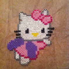 Hello Kitty perler beads by simplybowsboutique