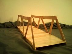 Popsicle stick bridge..... SO COOL!
