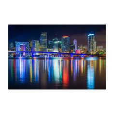 Shop for Noir Gallery The Miami Skyline at Night Fine Art Photo Print. Get free delivery On EVERYTHING* Overstock - Your Online Art Gallery Store! Miami Skyline, Skyline Art, Fine Art Photo, Photo Art, Wall Art Prints, Poster Prints, Crafts For 3 Year Olds, Thing 1, Night Photos