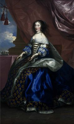 Henriette Anne, Duchess of Orleans, 1644 - 1670. Fifth daughter of Charles I, by Jean Nocret  (1660)