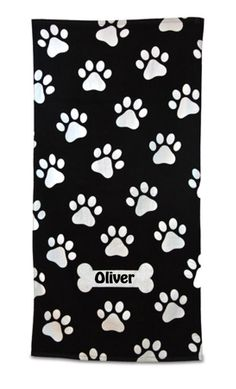 Liberty Bags, Carmel Towel Co; great towel for monogramming and gifting, or using as ordinary beach towels! Liberty Bag, Black And White Dog, Wholesale Bags, Oversized Beach Towels, Dog Paws, Pattern Fashion, Monogram, The Unit, Handmade Gifts
