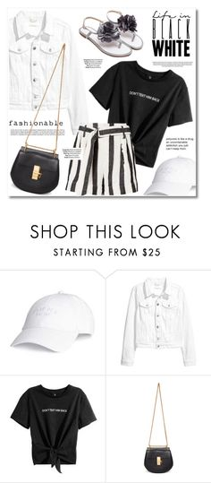 """""""Black & White"""" by anne-irene ❤ liked on Polyvore featuring Michael Kors and Chloé"""