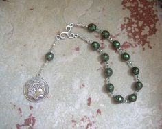 Charon Pocket Prayer Beads: Greek God, Ferryman of the Dead, Guardian of the River Styx by HearthfireHandworks on Etsy