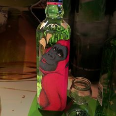painting on the AGWA bottle_by Diren Lee