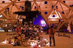 Burning Man 2013 - Temple of Whollyness - Night of the Man Burn