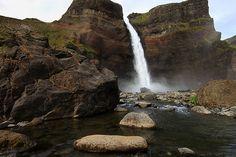 Háifoss-waterfall, Iceland   por fredschalk