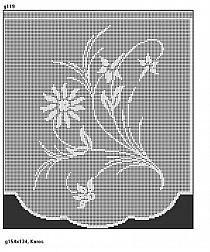 Crochet Curtains, Crochet Square Patterns, Filet Crochet, Rugs, Decor, Farmhouse Rugs, Cross Stitch, Home, Crochet Stitches Patterns