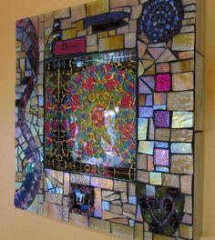 $145 Kaleidoscope Dream - Stained Glass Mosaic Wall Art