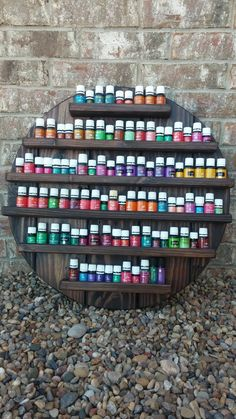 24 Essential Oils Holder by DirtyWoodDesigns on Etsy
