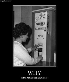 Can we get rid of the soda machines and put these back?