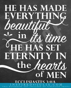 Ecclesiastes 3:11a