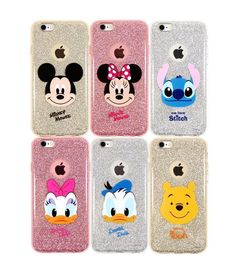 DISNEY Cutie iPhone 6/6S/Plus Cell Phone Soft Jelly Clear Case Cover Protector #Disney