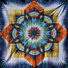 Prairie Star ~ Quiltworx.com, made by Certified Instructor, May Gunter