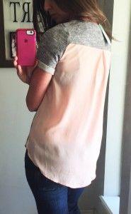 Stitch Fix: Market & Spruce Xander Short Sleeve Woven Back Sweatshirt ($54)