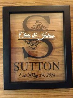 Custom+Monogram+Split+Letter+Floating+Frame+Personalized+8x10+  Makes+a+Great+Anniversary+and+Wedding+Gift    You+will+receive+a+8x10+Black+Floating+Frame+with+a+Split+Letter+,two+names+in+the+middle+and+Est.+on+the+bottom+just+as+shown+in+the+photo.+    You+can+customize+the+colors+and+pick+your...