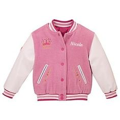 Personalized Disney Princess Varsity Jacket..... anyone who knows me knows my reaction to this and understands how much i have to have it and how determined i am to get it!