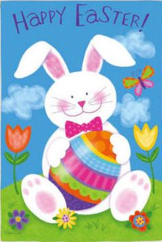 Jumbo Easter Garden Flag 28x40 Inches by ABC 1995 Jumbo Easter
