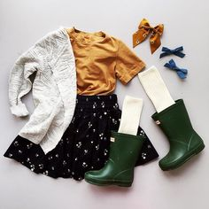 The third outfit in our for toddler series is my absolute f. - Nactumu France - The third outfit in our for toddler series is my absolute f. Outfits Niños, Girls Fall Outfits, Cute Fall Outfits, Little Girl Outfits, Little Girl Fashion, Toddler Girl Outfits, Little Girl Style, Children Outfits, Baby Style