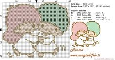 Little Twin Star 2 cross stitch pattern 50x41 4 colors