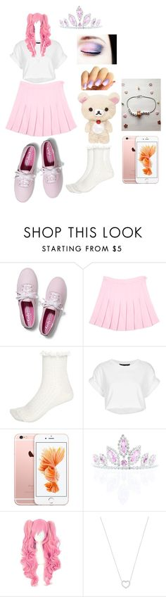 """""""Little space"""" by cryxbabie ❤ liked on Polyvore featuring Keds, River Island, Topshop, Kate Marie, Tiffany & Co., cute, Pink, Chilling, ddlg and littlespace"""