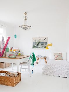 White might not always seem the best idea for children but you can always change the scheme with furnishings.