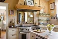 Mirror decor in Kitchen Design Ideas