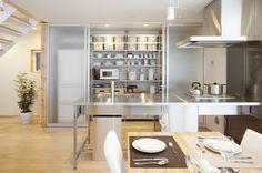 Hideaway kitchen storage