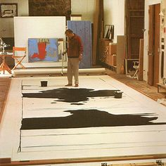 Robert Motherwell was a major figure of the Abstract Expressionist generation, he encompassed both the expressive brushwork of action painting. Robert Motherwell, Willem De Kooning, Jackson Pollock, Artist Art, Artist At Work, Picasso Paintings, Mark Rothko, Action Painting, Art Plastique