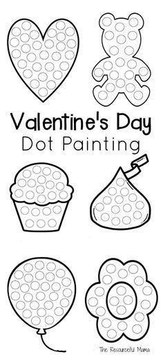 These Valentine's Day dot painting worksheets work great with do a dot markers, bingo daubers, and even dot stickers for a great on the go quiet time activity.
