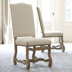If only they had  French script on the back, perfect. Set of 2 Capistrano Dining Chairs | Ballard Designs