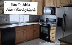 Adding a backslash is an inexpensive and easy way to add style to your kitchen. The picture below is of the counter without the backsplash,. Dark Kitchen Cabinets, Kitchen Cabinet Design, Kitchen Redo, Kitchen Backsplash, Kitchen Countertops, Kitchen Remodel, Kitchen Countertop Organization, Kitchen Upgrades, Kitchen Hacks