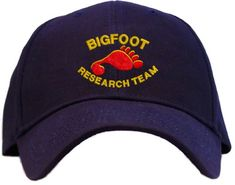 #Bigfoot Research Team Embroidered Navy Baseball #Cap