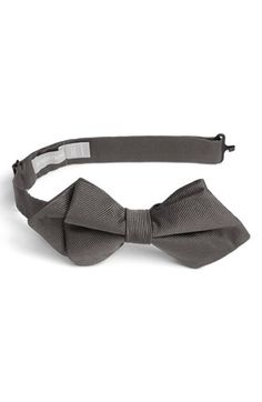 Boy's Nordstrom Silk Bow Tie - Grey (Boys)