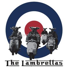Funny retro Scooter T shirt. #mods #Britain #british #the sixties #cool #funny #humorous #lambs #lambretta #scooter
