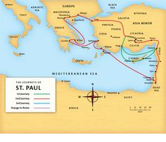 maps of Pauls ministries | Paul's Second Journey