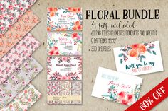 Floral bundle FB-01 by Charushella on @creativemarket