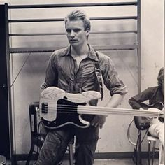 Gorgeous shot of a young Sting.