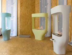 futuristic fireplaces