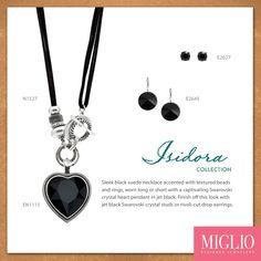 Bold in black! Designer Jewellery, Jewelry Design, Black Suede, Corset, Swarovski Crystals, Studs, Jewlery, Pandora, Handmade Jewelry