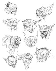 I will probably use these towards a full composition later, doing exploration here in weekly sketches. This was more of an experiment in design and sketching I think i will try to do more, and get better at this. Let me know if you got any If there's Funny Cartoon Faces, Zombie Drawings, Concept Art Tutorial, Dungeons And Dragons Homebrew, Creature Drawings, Drawing Projects, Monster Design, Fairytale Art, Creepy Art