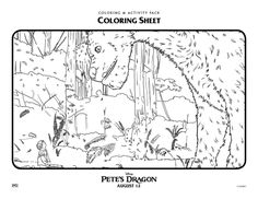 pete dragon coloring pages 8 Best Disney Pete's Dragon coloring pages Disney images | Pete  pete dragon coloring pages