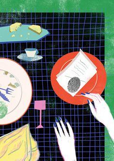 Pay with a fingerprints. Illustration for hatalska.com