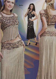 Ribbon Lace Stylish Crochet Patterns Dress Top by DupletMagazines