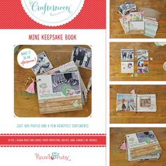 Hazel and Ruby - Crafternoon Collection - Kits - Mini Keepsake Book at Scrapbook.com
