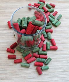 The Wooden Bee » red and green wine corks » 2012 Holiday Giveaway