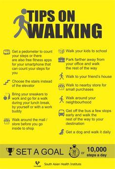 Tips on walking