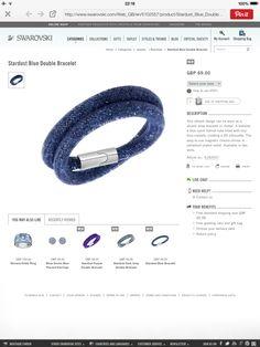New Swarovski's Stardust bracelet http://www.swarovski.com/Web_GB/en/5102557/product/Stardust_Blue_Double_Bracelet.html